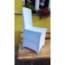 povlaky na židle, bílé potahy - půjčovna